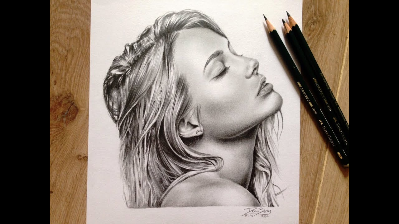 graphite speed drawing by tessa tekent youtube