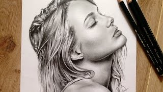 Graphite speed drawing by DrawBerry Art