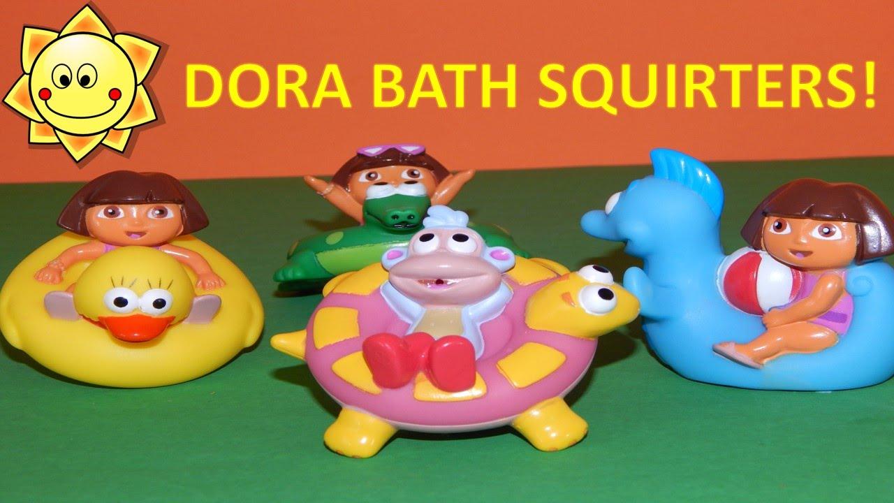 All Dora Toys : Dora the explorer bath squirters time toys