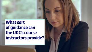 What sort of guidance can the UOC's course instructors provide?
