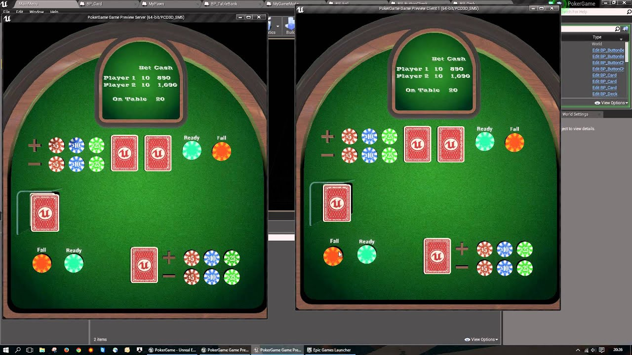 Poker game ue4 only blueprint vol 3 youtube poker game ue4 only blueprint vol 3 malvernweather Images