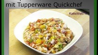 Rezept Tomaten-Wurstsalat im Tupperware Quickchef 5 Minuten