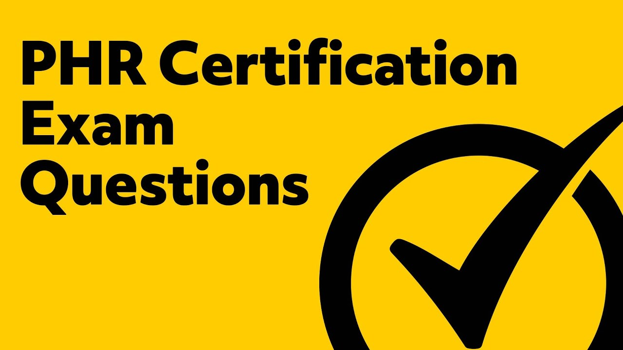 Phr Certification Exam Questions Youtube