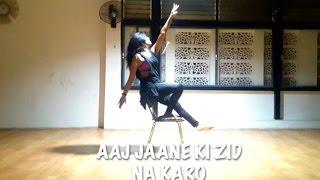 aaj jaane ki zid na karo   dance   choreography   chair dance   ae dil hai mushkil   aishwarya rai