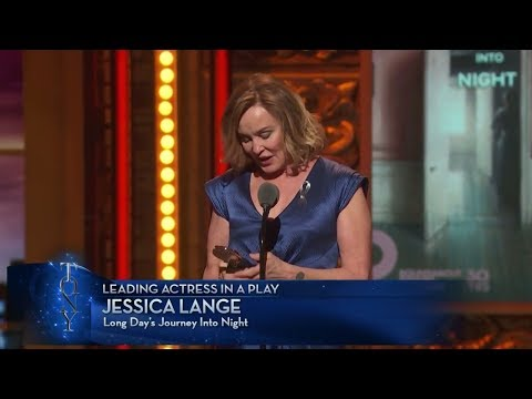 Acceptance Speech: Jessica Lange  Best Leading Actress in a Play 2016