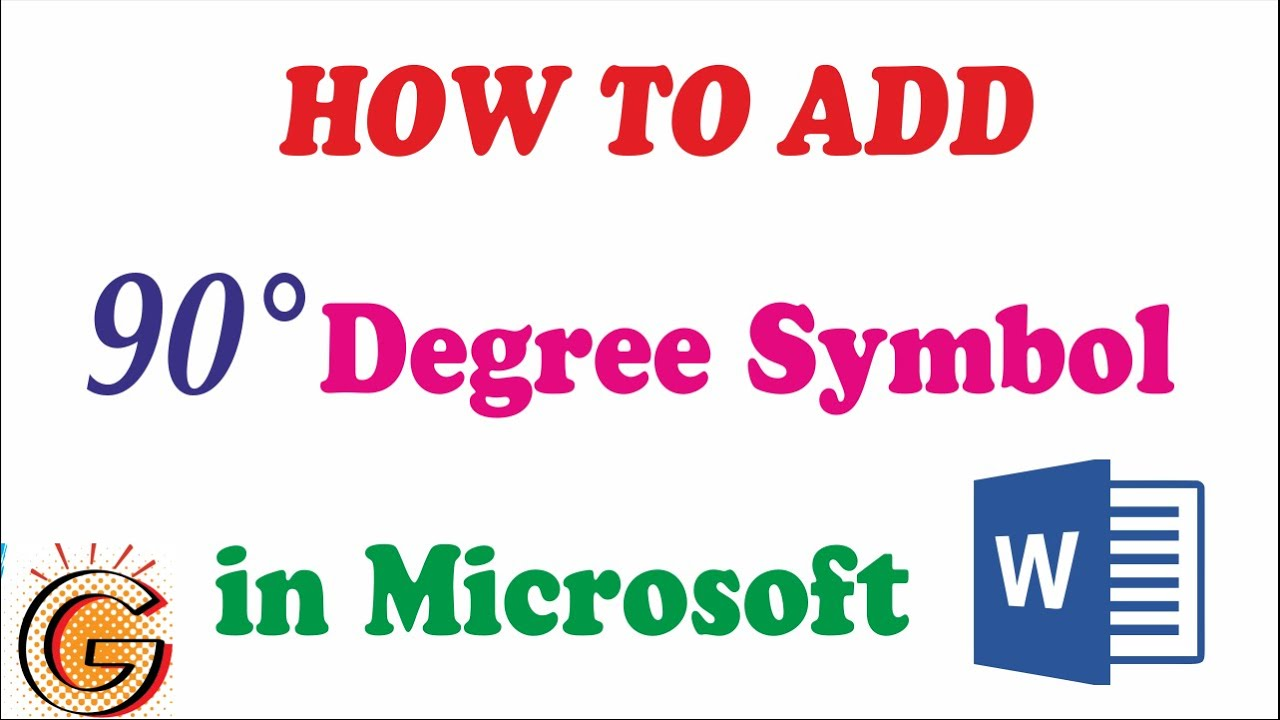 How To Add Degree Symbol In Word Youtube