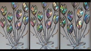 Idéias de Flores Usando CD – Decoração