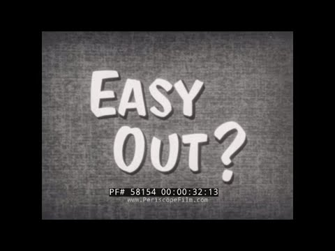 """1950s U.S. NAVY FILM """"EASY OUT?""""  CONSEQUENCES OF BAD CONDUCT DISCHARGE  58154"""