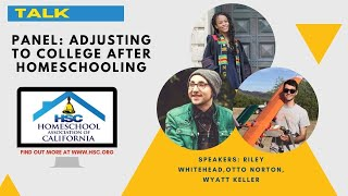 HSC 2020 Virtual Conference Panel: Adjusting to College after Homeschooling
