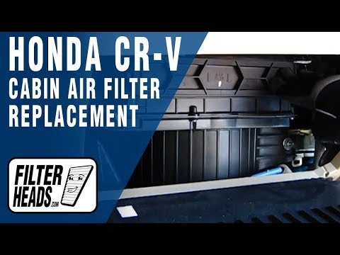 how to replace cabin air filter honda cr v youtube. Black Bedroom Furniture Sets. Home Design Ideas
