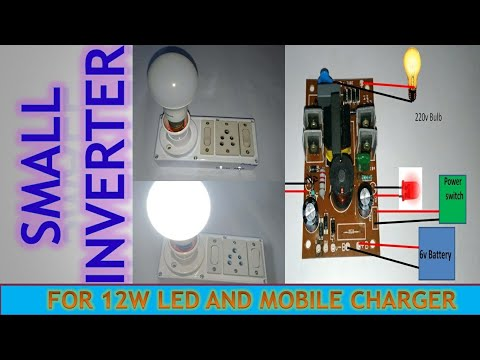 6v dc to 220v ac converter | small 12 watt inverter - youtube  youtube