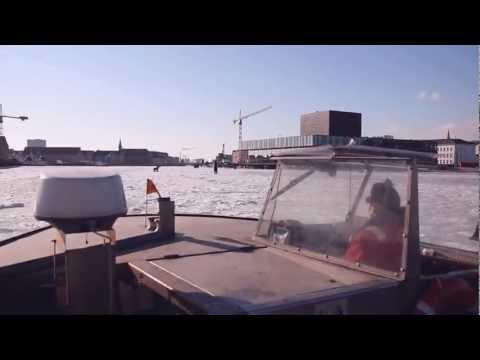 Winter sun at Copenhagen harbour