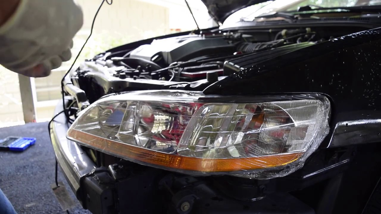 2002 Accord Headlight Replacement Youtube