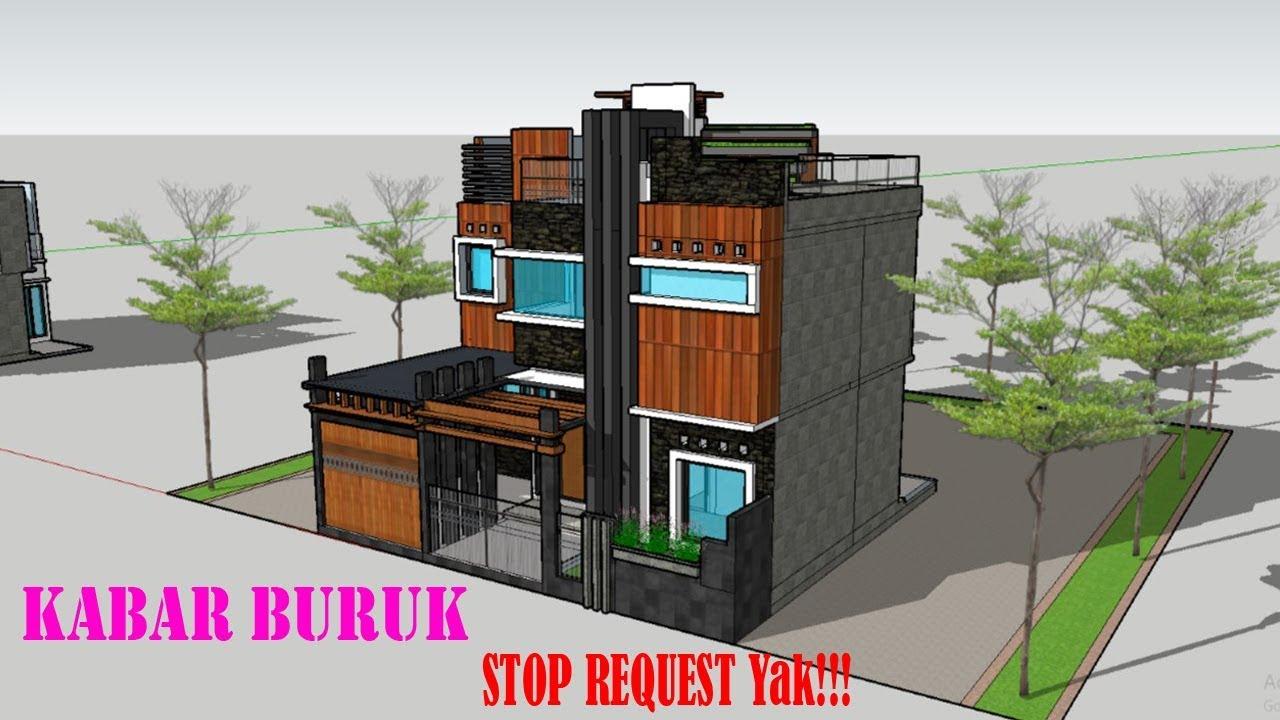 Eps 17 Desain Rumah  Ukuran 10x10m 2 Lantai plus 3 Kamar