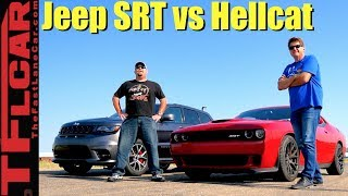 SRT vs SRT Drag Race: What's Faster a 2WD Hellcat or a 4WD Jeep?