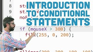 3.1: Introduction to Conditional Statements - p5.js Tutorial