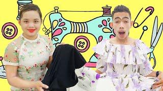 Nina and Sikin Play Change Dress | Nora Family Show