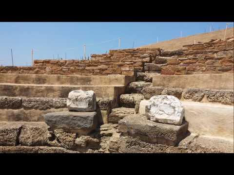 Ancient Theatre of Hephaistia (Ifestia), Lemnos island, Greece