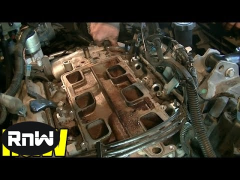 Chevy 3 8L Upper + Lower Intake Manifold Gasket and Tensioner Replacement  Part 2