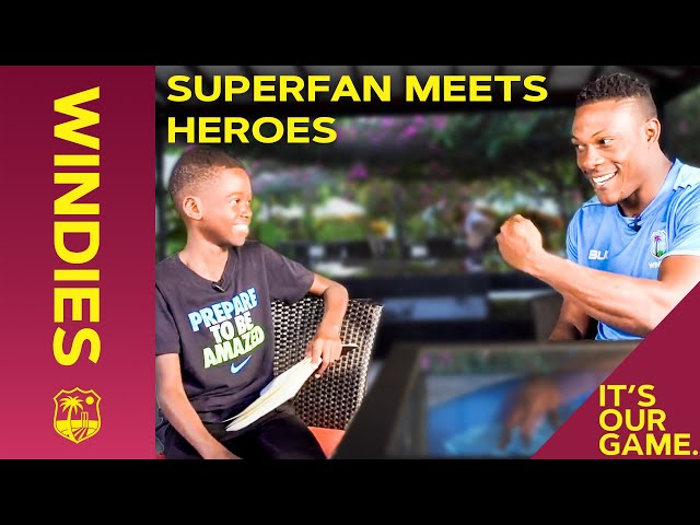 Superfan Ashere Learns The Cottrell Salute + Quizzes His Windies Heroes! | Windies Cricket