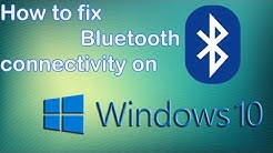 How to fix Bluetooth issues in Windows 10 | Windows 10 Bluetooth not working |