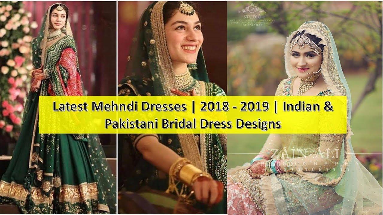 44fb0fcf8e Latest Mehndi Dresses 2018 2019 Indian & Pakistani Bridal Dress Designs