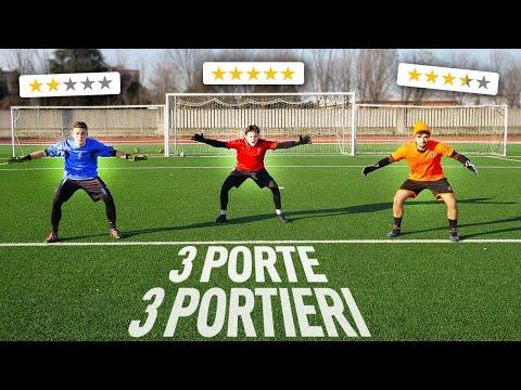 🧤 3 PORTE VS 3 PORTIERI!   Chi SUBISCE MENO GOAL VINCE! - Sergej GK