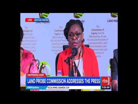 Land Probe Commissioners' Press Conference