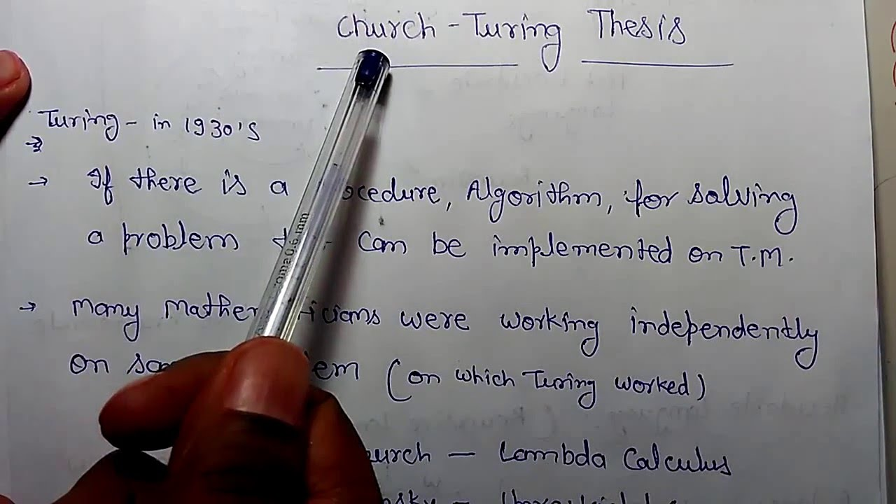 churchs thesis in automata