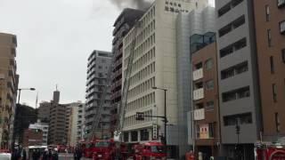 2月8日 広島市南区比治山町 火災現場
