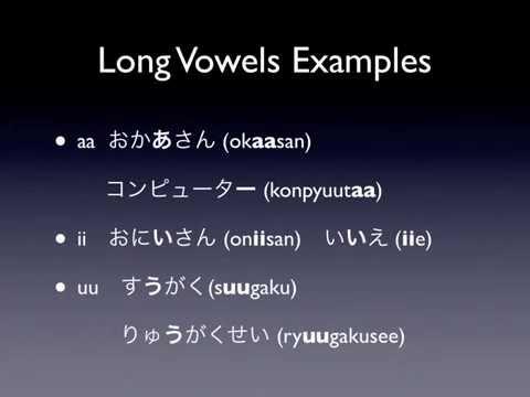 Tiếng Nhật bài 4: Phụ âm n, tsu nhỏ, trường âm