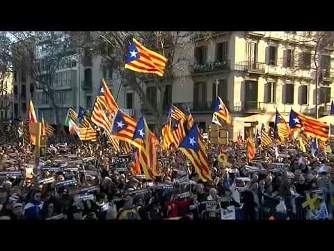 Protestos pró-independência na Catalunha