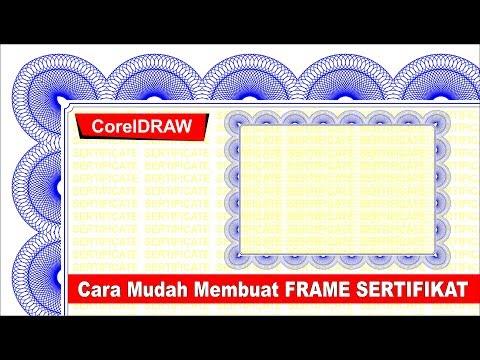 Cara Membuat Frame Sertifikat Dengan CorelDRAW Part 1