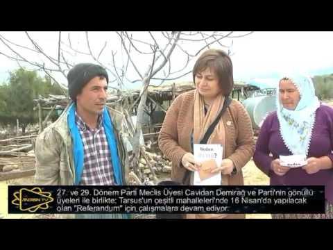 Tarsus( köylerinde)mahallelerinde referandum çalışması
