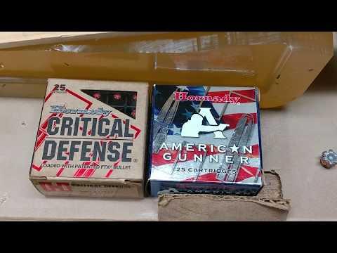 Hornady American Gunner Vs. Hornady Critical Defense: Post-shoot Analysis & LCP Test Result