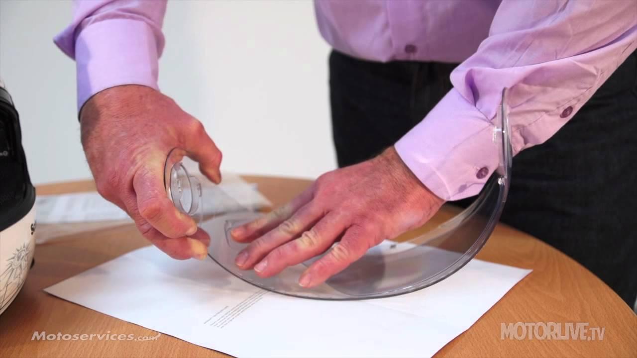 Vidéo De La Pose Dun écran Pinlock Sur Un Casque Youtube