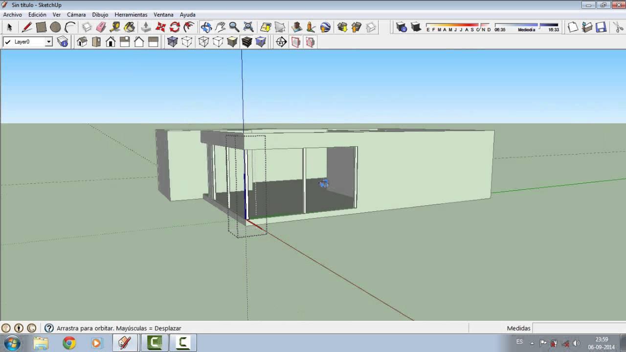 Como crear una casa en sketchup parte 1 youtube for Como remodelar una casa