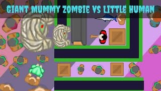 Giant Mummy Zombie vs Little Humans | New Formation #4 - braains.io