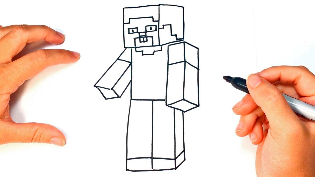 Cómo Dibujar A Steve De Minecraft Paso A Paso Dibujo Fácil De