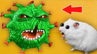 🦠 Virus - Hamster Maze with Traps ☠️[OBSTACLE COURSE]