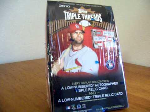 2010 Triple Threads Baseball Free Box Break - www.BaseballFactorySets.com