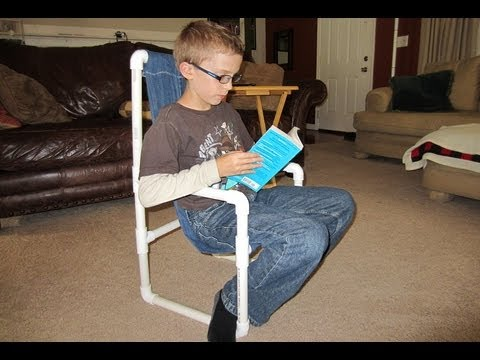 How to make a Kids Chair with PVC  Kids Lawn Chair  YouTube