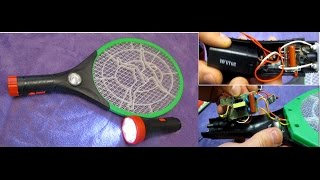Электрическая мухобойка, обзор, разборка