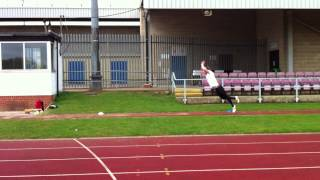 Jump training for Sprinters (Plyometrics) - Standing quintuple jump (4 Steps and a landing).