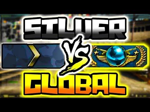 GLOBAL ELITE VS SILVER IN CSGO!!