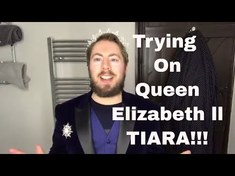 Trying On Replica Queen Elizabeth ll 'Girls Of Great Britain & Ireland' Tiara