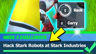 Hack Stark Robots at Stark Industries Location - Fortnite