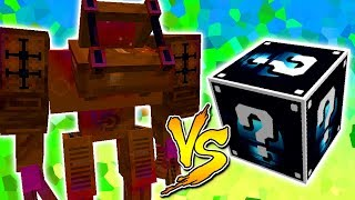 MEGA GOLEM DE CHOCOLATE VS. LUCKY BLOCK LUA (MINECRAFT LUCKY BLOCK CHALLENGE)