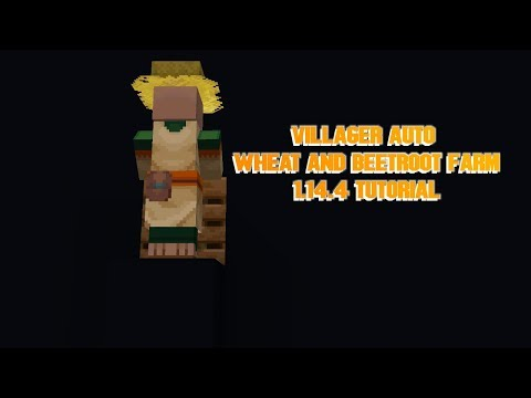 villager-auto-wheat-and-beetroot-farm-1.14.4-tutorial-for-java