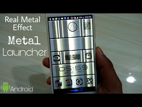 Unique Launcher App | Metal Chrome Finish Android Launcher App 2018